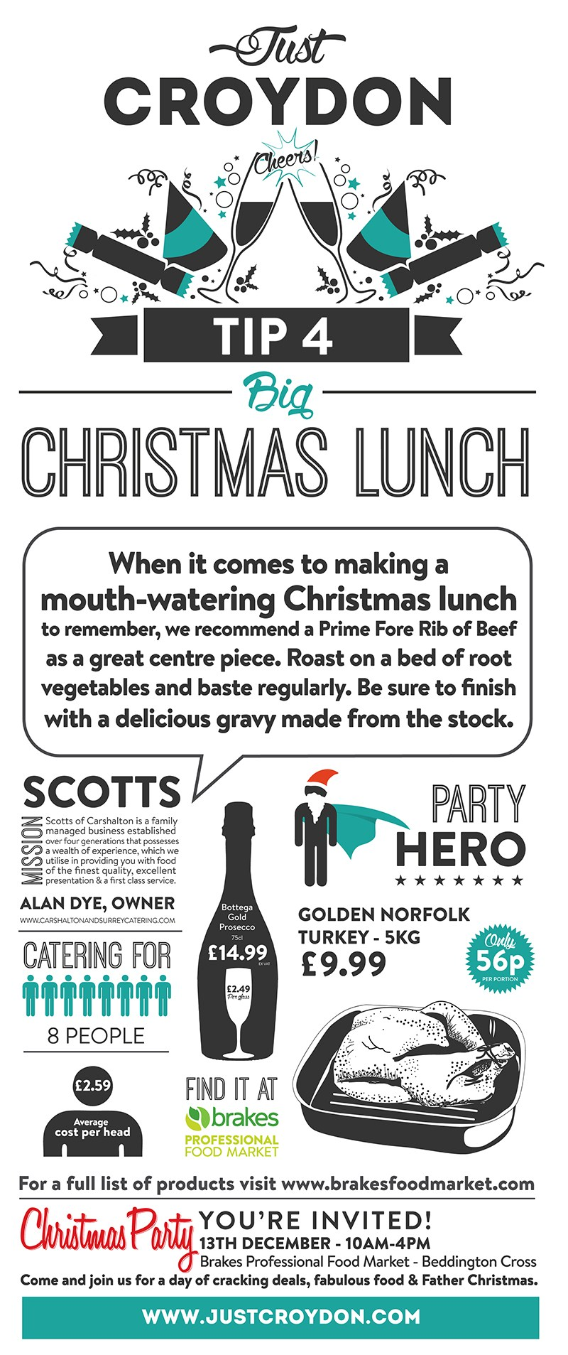 Party Tip 4: Big Christmas Lunch