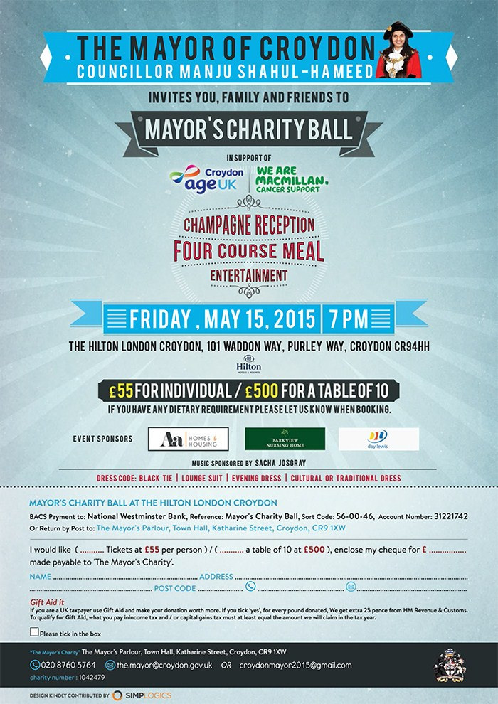 The Mayor Of Croydon Presents - The Mayors Charity Ball