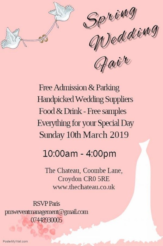 Spring Wedding Fair @ The Chateau, Croydon