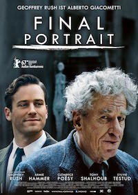 Final Portrait (2017, UK/USA, Dir. Stanley Tucci, 90 mins, 15)