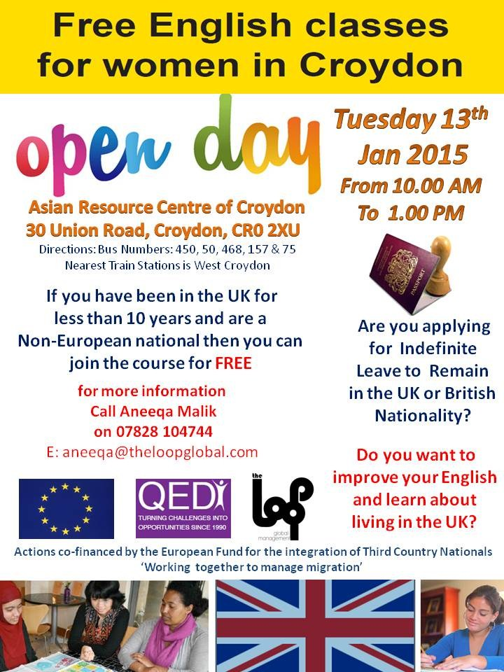 Free ESOL Classes for Women in Croydon **OPEN DAY**