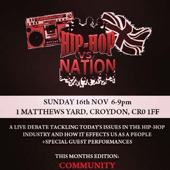 Hip-Hop vs nation https://www.facebook.com/events/1433018460270718/