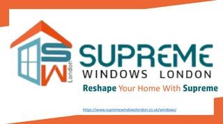 Supreme windows London | Double glazed glass replacement